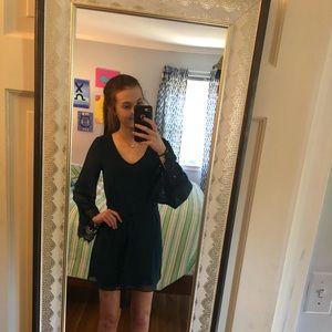 Dresses - teal cocktail dress